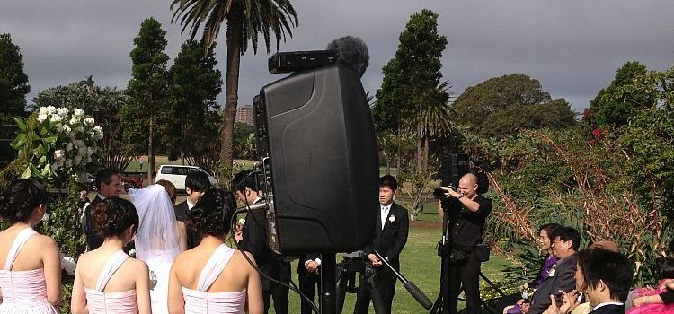 Outdoor wedding portable sound