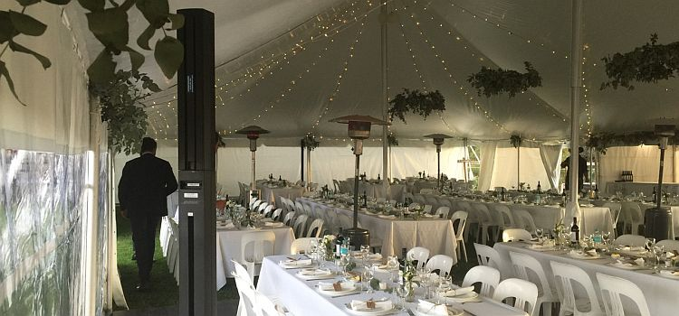 Marquee wedding sound