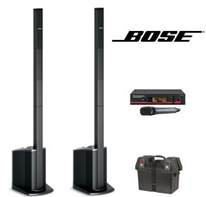 Bose L1 Compact speakers with wireless mic & battery pack.