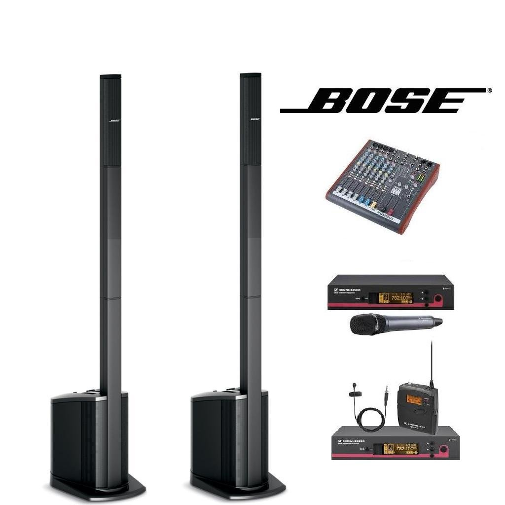 Bose L1 Compact Speakers x 2 with wireless microphones.