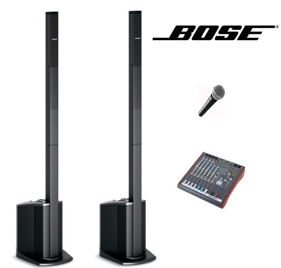 Bose L1 Compact x 2 with cabled microphone.