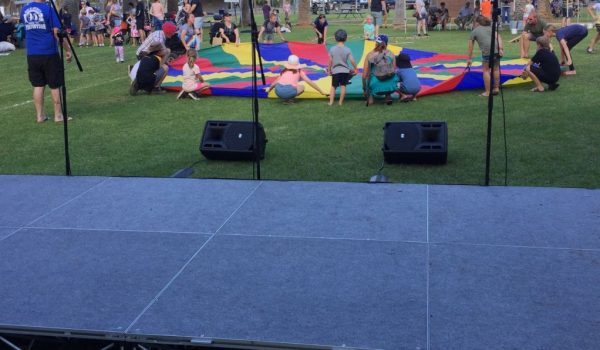 4m x 2m stage at family fun day