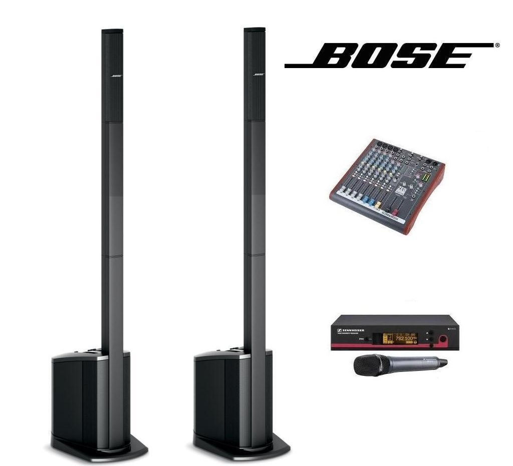 Bose L1 Compact Speakers X2 with Wireless MIc and Mixer