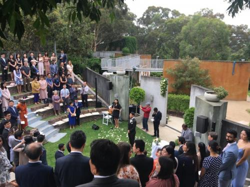 Wedding at Eden Gardens, North Ryde.