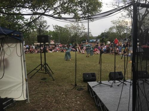 Christmas carols, Warragamba.  Bose 802 main speakers, Bose 402 delay speakers, RCF monitors, LED lights, staging.