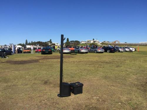Porsche club show day, Cronulla.   Bose L1 Compact speaker with battery/inverter pack.