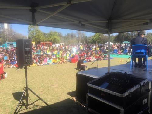 Parramatta Public School, International Day.  Mackie DL1608 mixer, Bose F1 speakers.