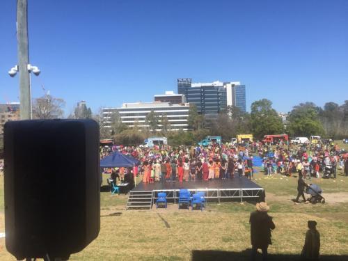 Parramatta Public School, International Day.  RCF fill speakers.