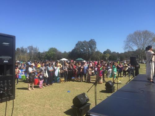 Parramatta Public School, International Day.  Bose F1 speakers, RCF monitors.