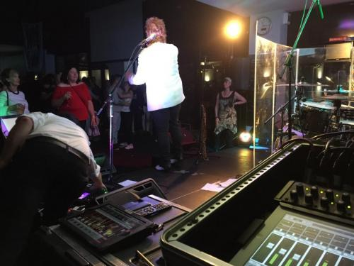 Rod Stewart tribute show, Caringbah Hotel. Mackie DL1608 mixer.