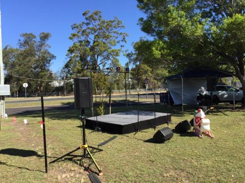 Warragamba Community Carols. Bose F1 speakers, RCF speakers, 3mx2m stage.