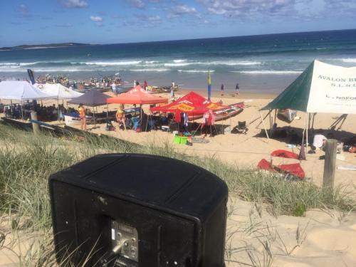 Surf rowing championships at Cronulla.  Bose 802 speaker.