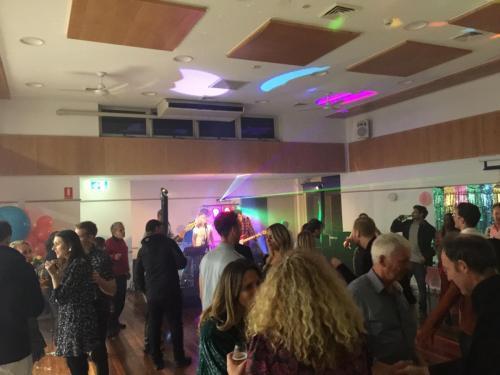 30th birthday at North Sydney Community Centre.    EV Evolve 50 speakers, RCF monitors, Soundcraft UI24 mixer. laser light & LED's.