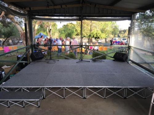4m x 3m Stage for Salvation Army sommunity carols.